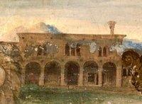 Ospedale di San Francesco, particolare all'affresco del Varotari