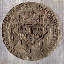 Sigillo cartaceo di Padova, originale del 1395