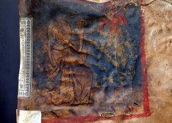 Miniatura di San Francesco che riceve le stimmate,primo libro contabile dell'Ospedale di San Francesco Archivio di Stato di Padova