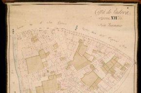 Foglio di mappa del Catasto Napoleonico n.XII